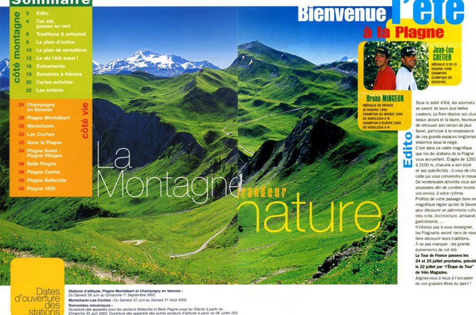 Brochure La Plagne été 2002